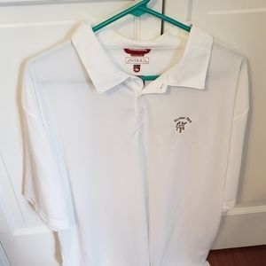 Men 2XL White Golf Polo, Antigua, Never Worn